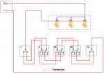 Подключение проходного двухклавишного выключателя с трех мест – Схема двухклавишных проходных выключателей из трех мест